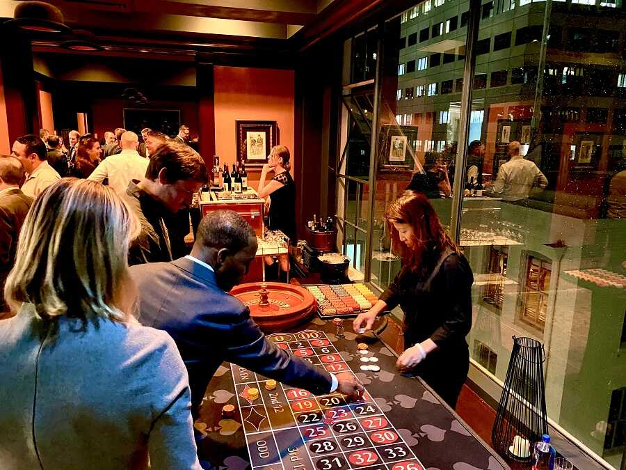 Roulette at 21 Fun Casino Party in Berkeley, California