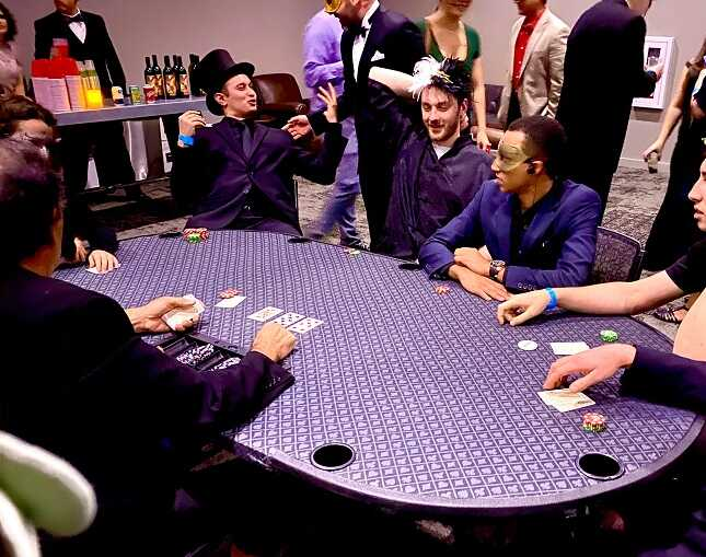 Poker Parties at 21 Fun Casino Party Burbank Los Angeles