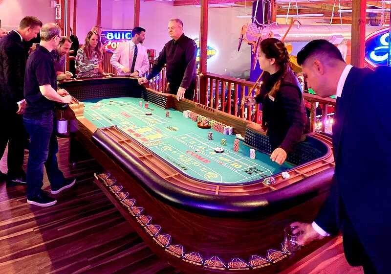 Craps Table, 21 Fun Casino Party Fullerton